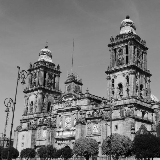 Cathedral at the zocalo in Mexico City