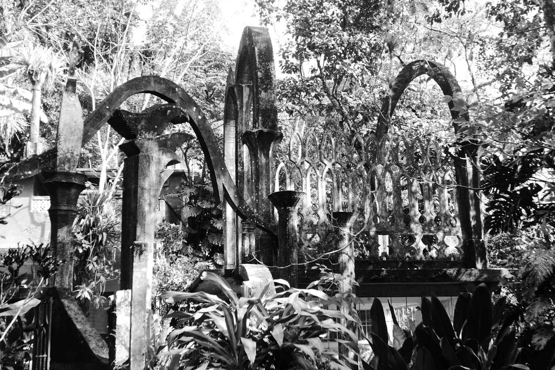 Arches in Las Pozas surrealist garden in Xilitla
