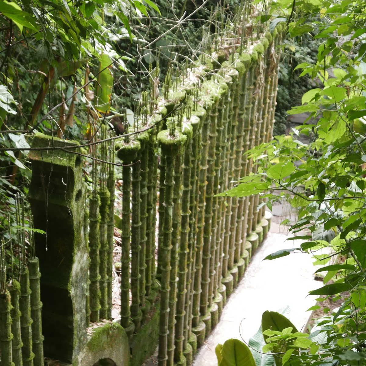 Beautiful columns in Las Pozas surrealist garden in Xilitla