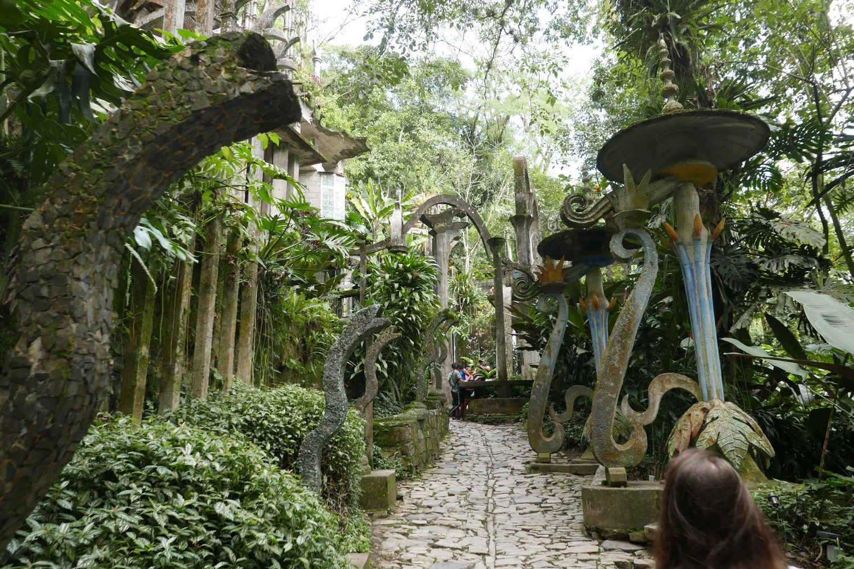 Entrance street in Las Pozas surrealist garden in Xilitla