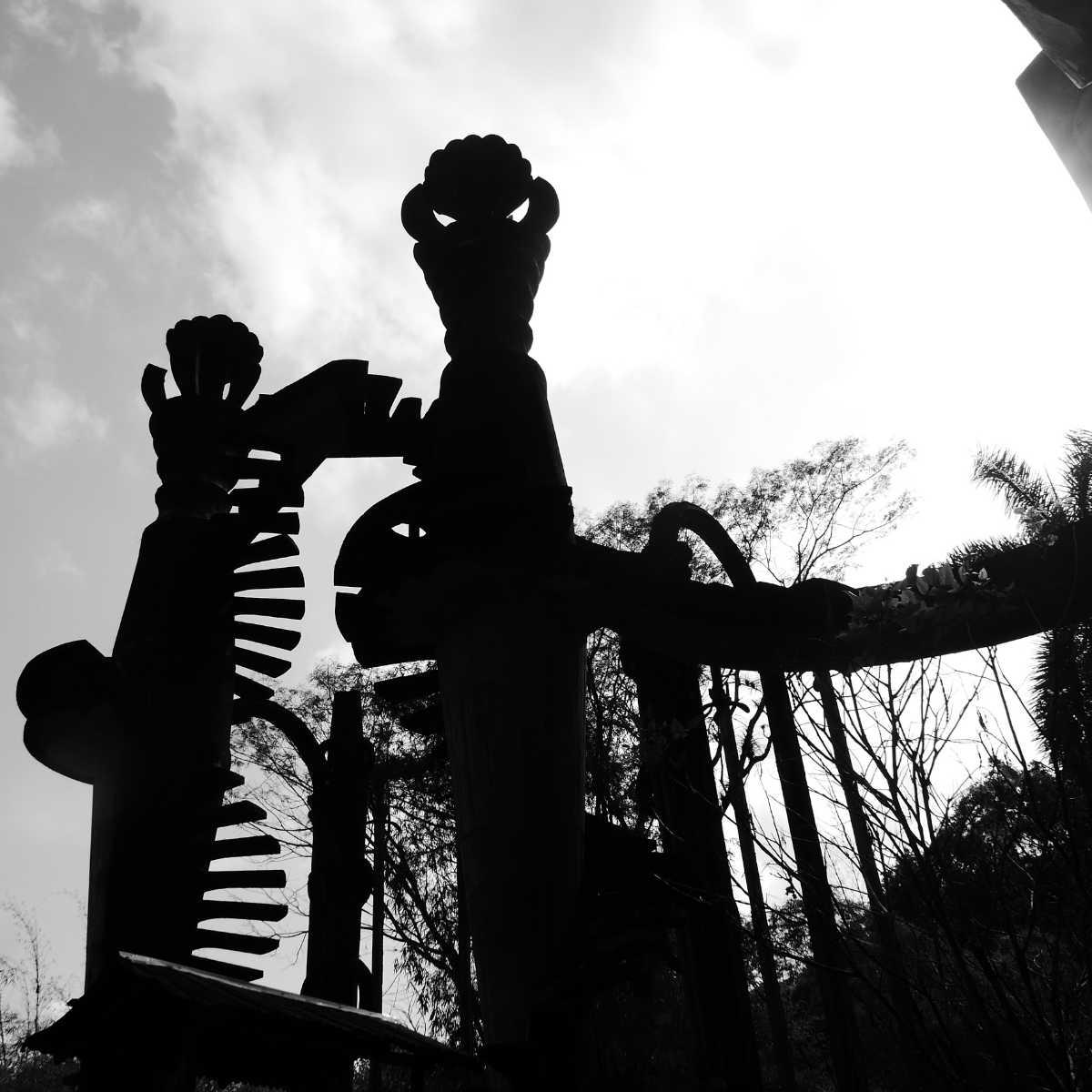 Tower structure in Las Pozas surrealist garden in Xilitla