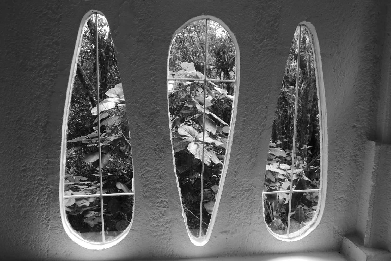 Windows in Las Pozas surrealist garden in Xilitla