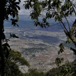 Panorama view of Xela from Santa Maria volcano