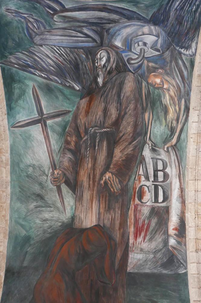 Orozco mural in central nave of Hospicio Cabanas in Guadalajara