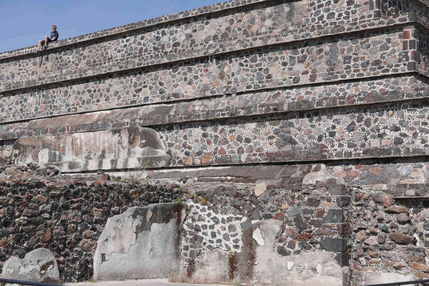 Temple detail in Teotihuacan