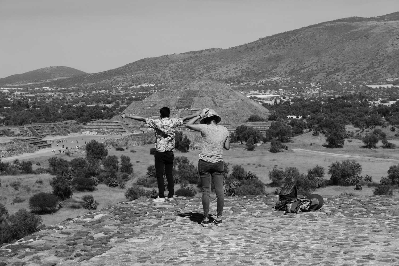 Tourists on Pyramid of the Sun