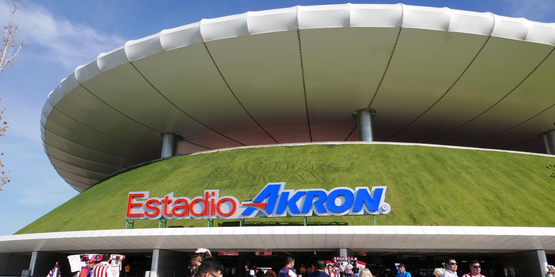 Entrance to the Chivas stadium in Guadalajara