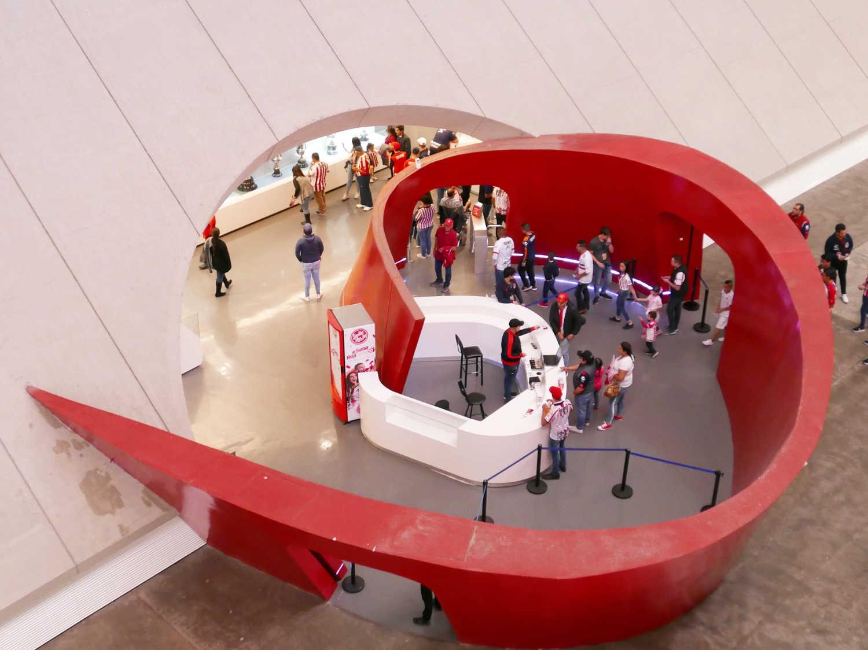 Fanshop inside the concourse of Chivas stadium in Guadalajara