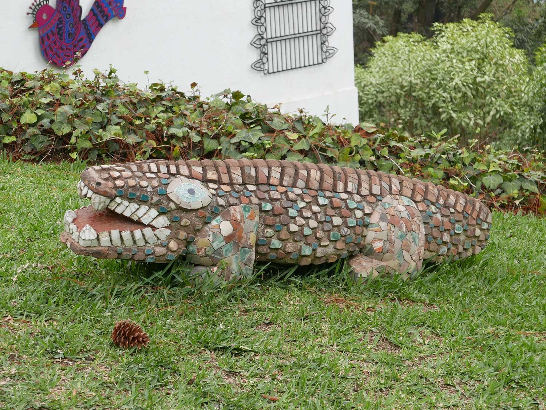 Sculpture in Santo Domingo del Cerro museum in Antigua Guatemala