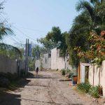 Entrance street to El Tunco village, El Salvador