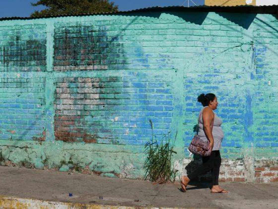 Street scene in Juayua, El Salvador