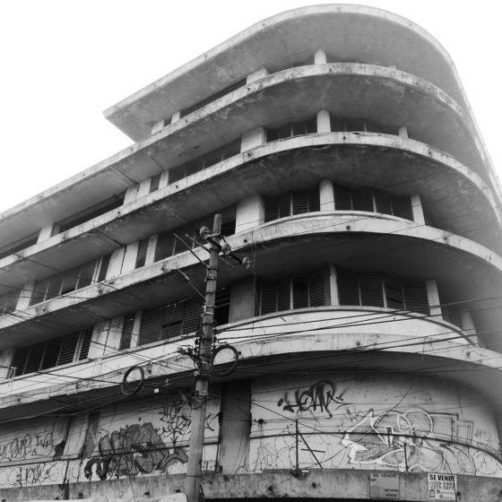 Dilapidated building near Plaza Morazan in San Salvador