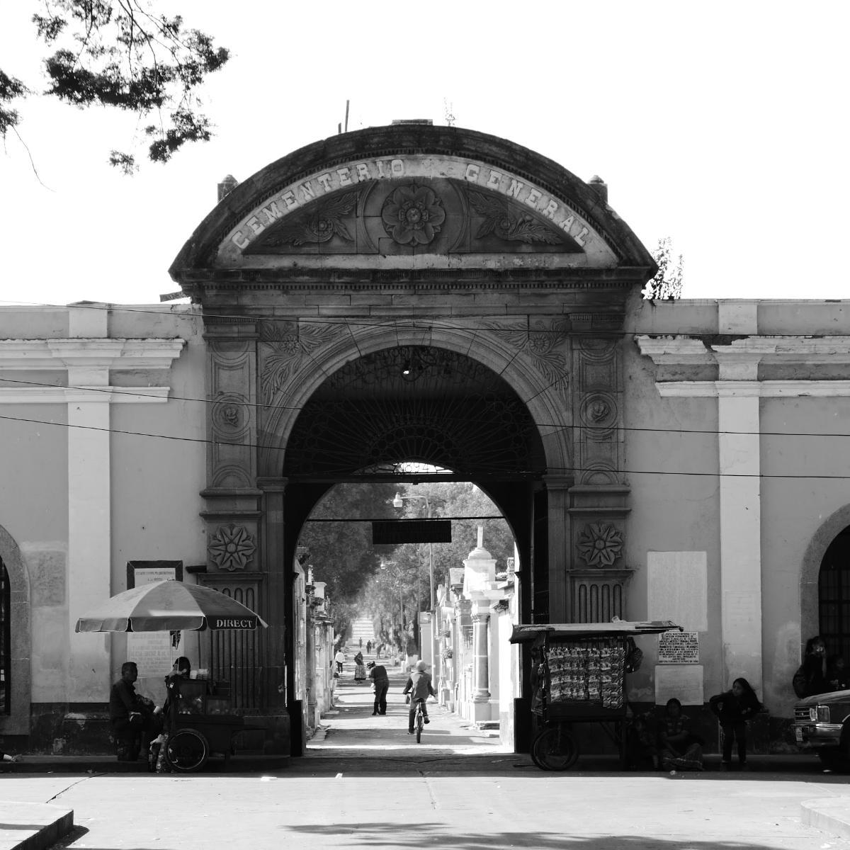 Entrance to the central cemetery of Xela