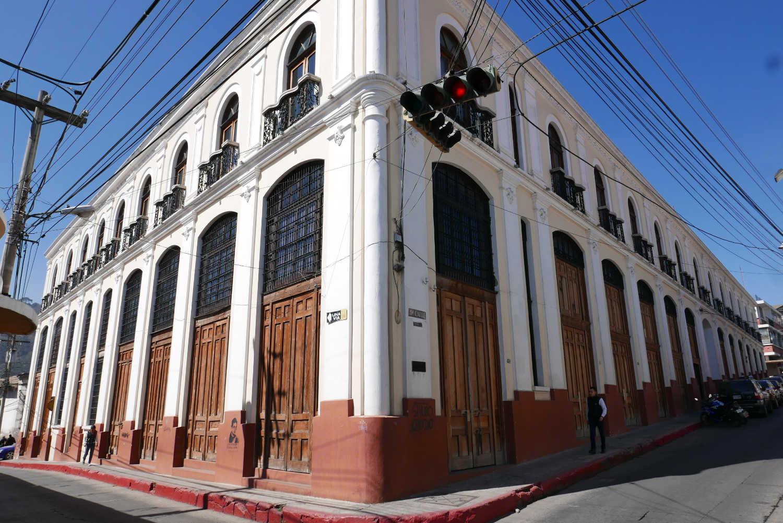 Colonial building close to Parque America in Xela