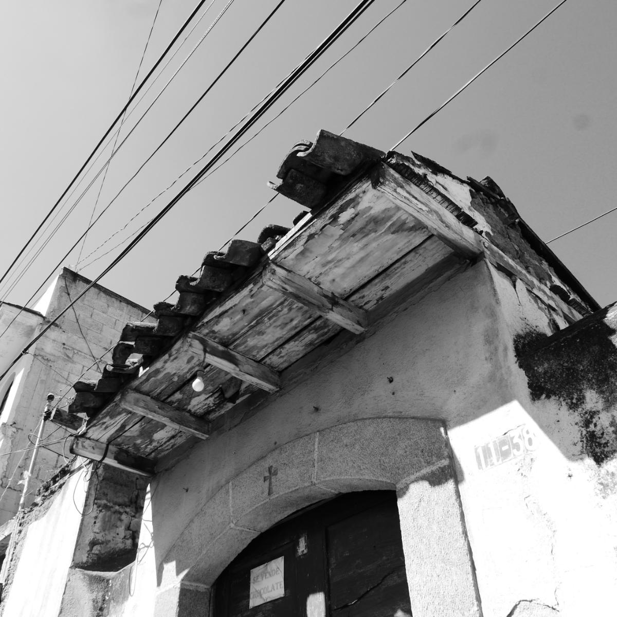 Damaged roof in Xela