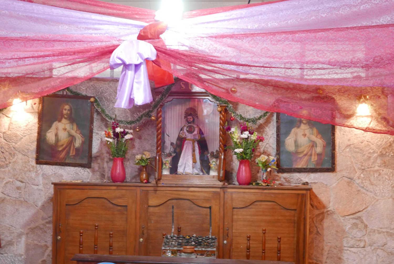 Shrine in the Central Market building in Xela