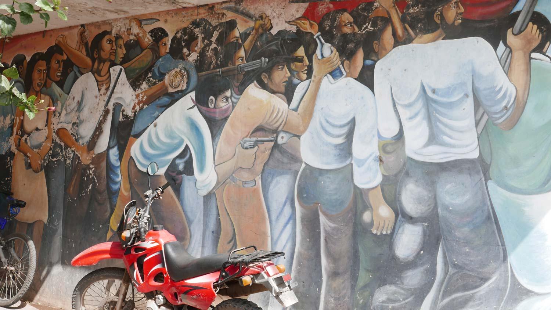 War museum graffiti in Esteli, Nicaragua
