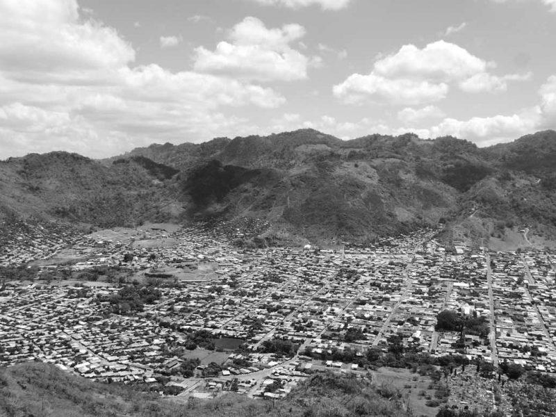 Panorama of Jinotega valley in Nicaragua