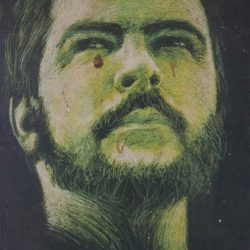 Painting of Sandinista in Revolution museum in Leon, Nicaragua