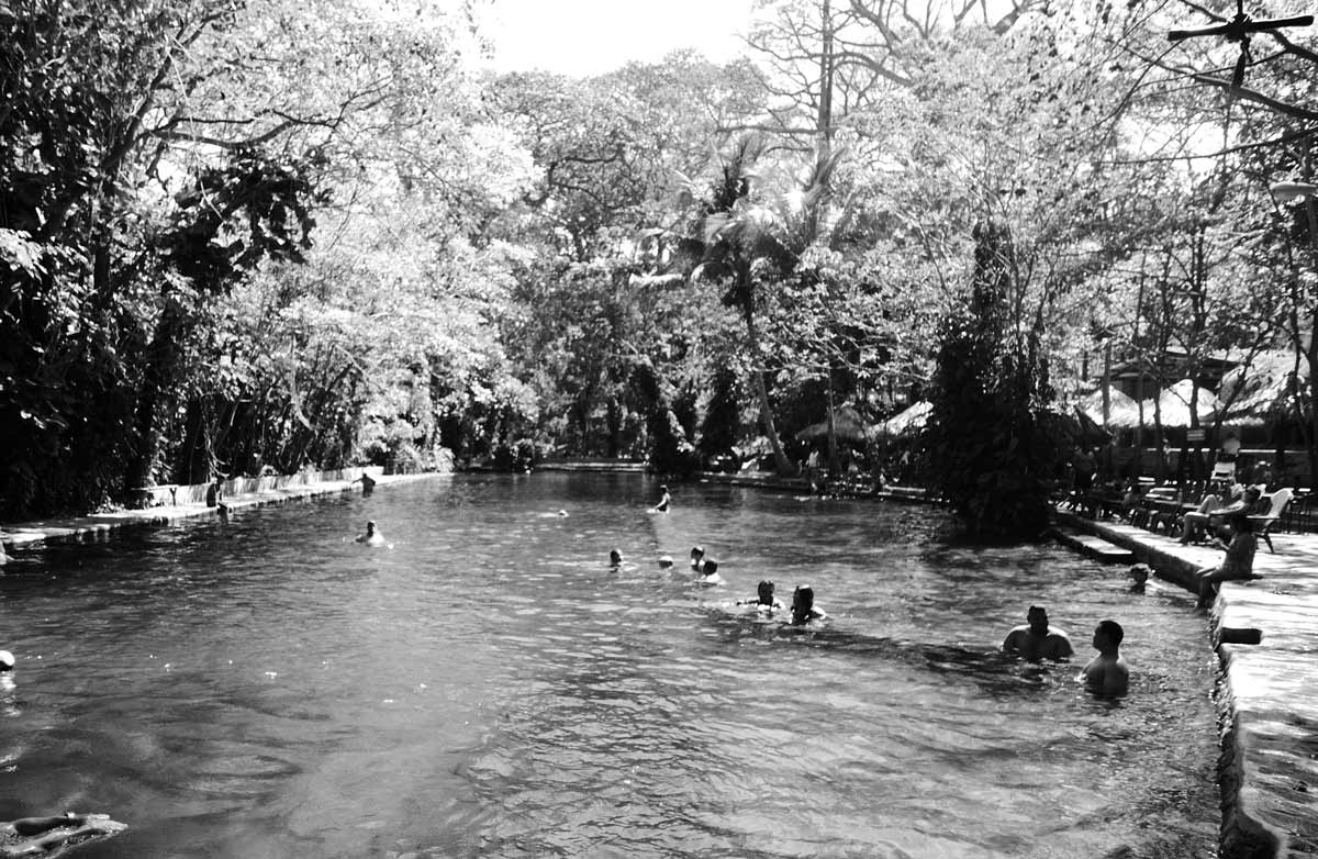 Ojo de Agua, a swimming pool in the jungle of Ometepe is land in Nicaragua