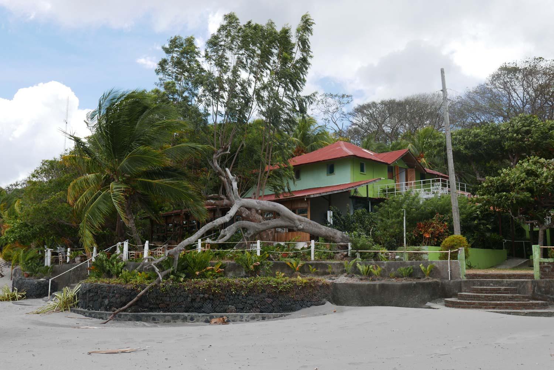 Beach house on San Fernando beach on Ometepe island in Nicaragua