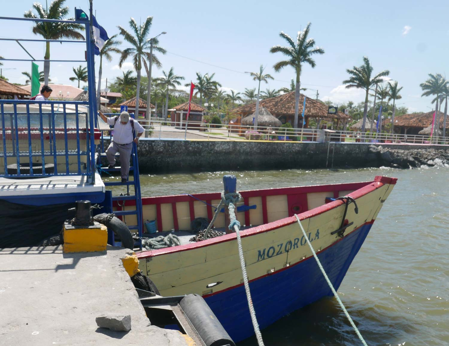 The small boat that took us from Rivas to Ometepe island