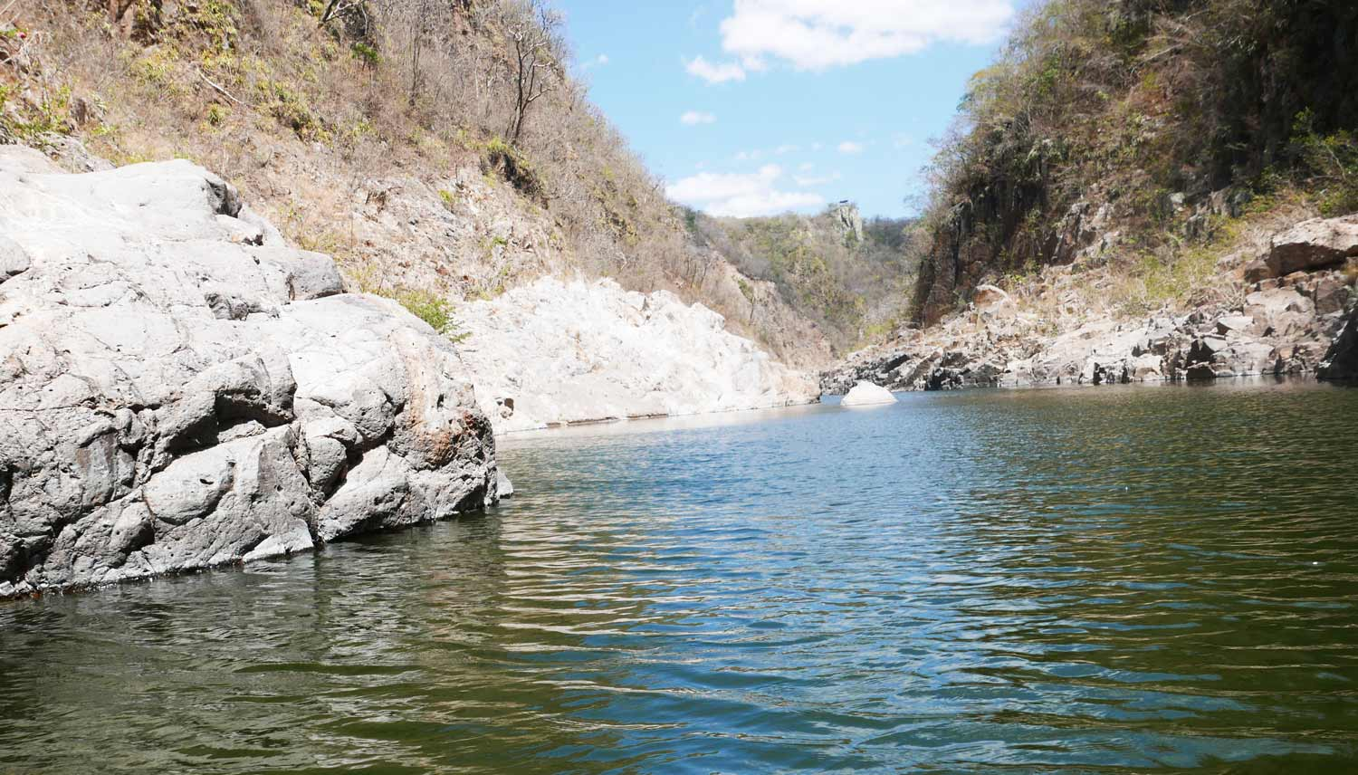 After lots of swimming a canoe takes you to the exit of Somoto canyon