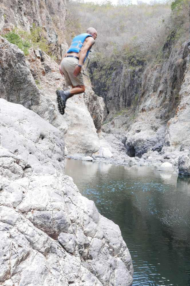 First jump in Somoto canyon