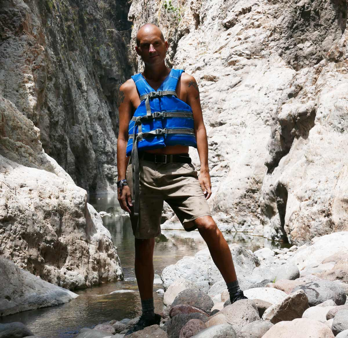 Yours truly in life vest in the middle part of Somoto canyon