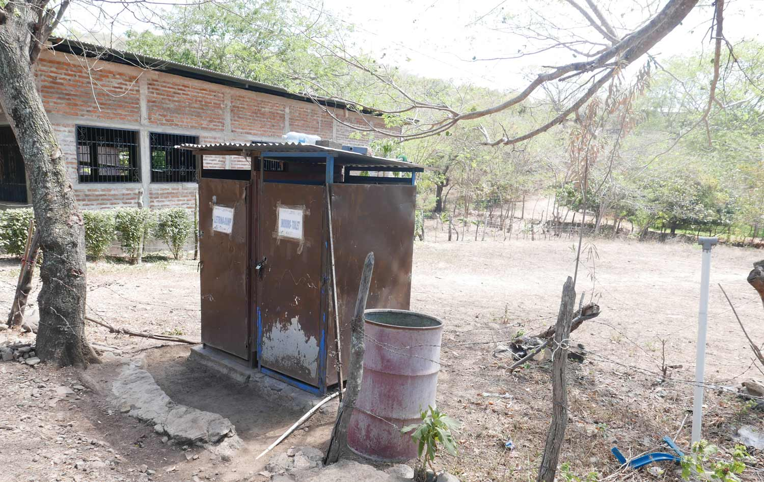Toilets near the official entrance