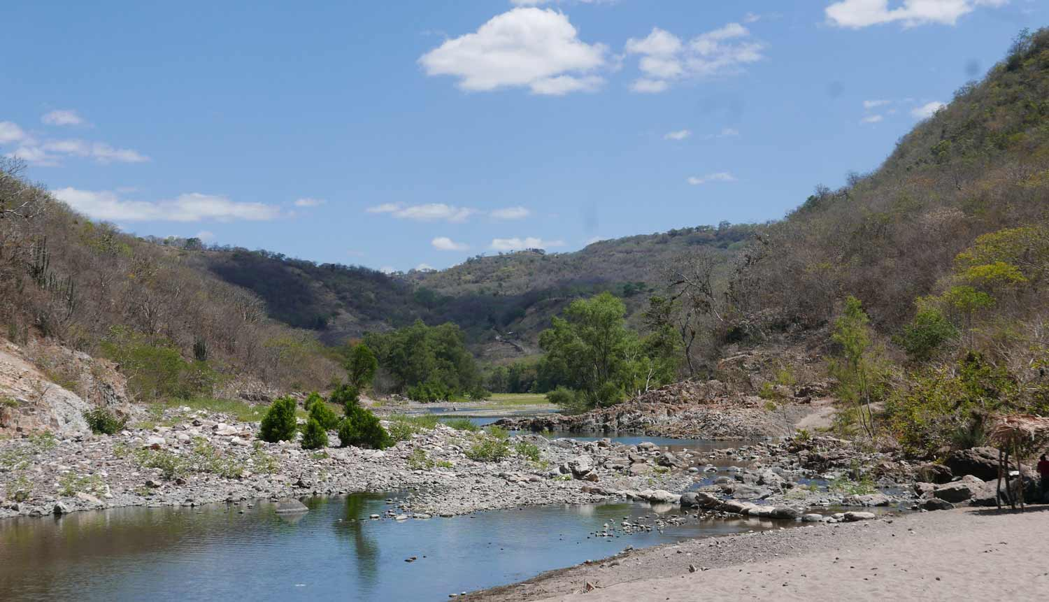 The end of Somoto canyon: the valley