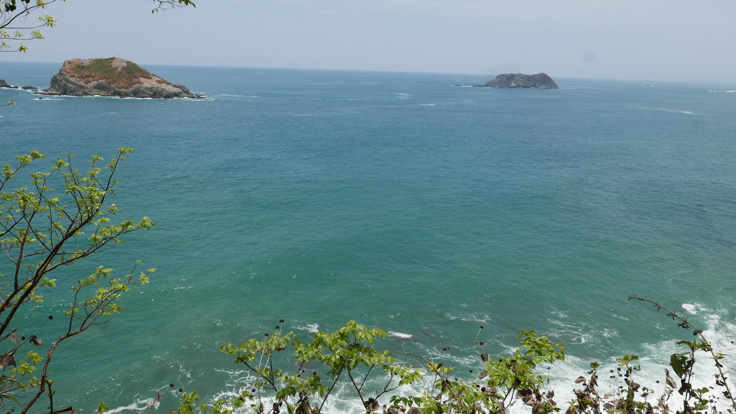 Panorama from Punta Cathedral in Manuel Antonio national park