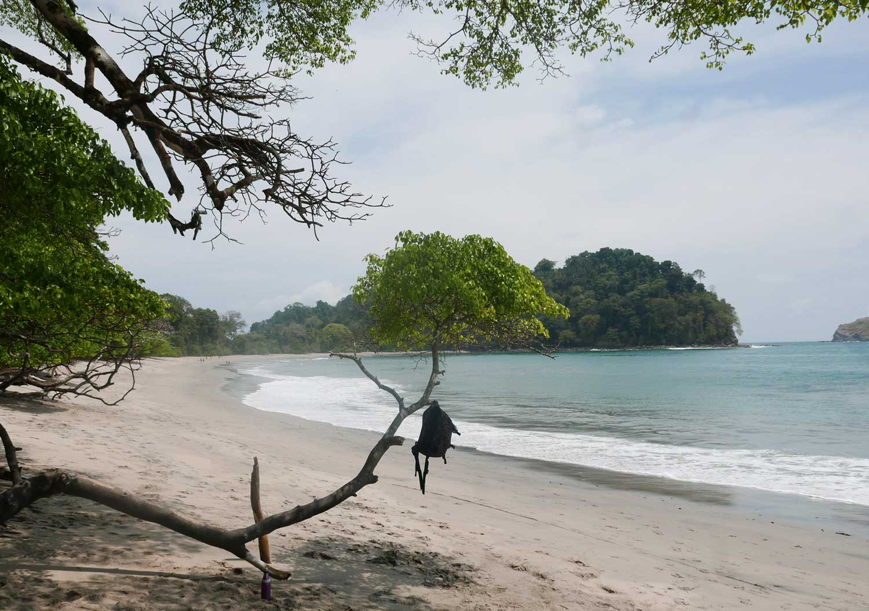 Manuel Antonio beach within the national park