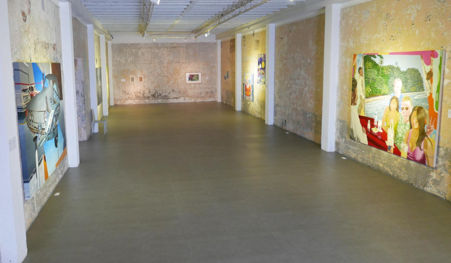 Inside the MADC contemporary art museum in San Jose, Costa Rica