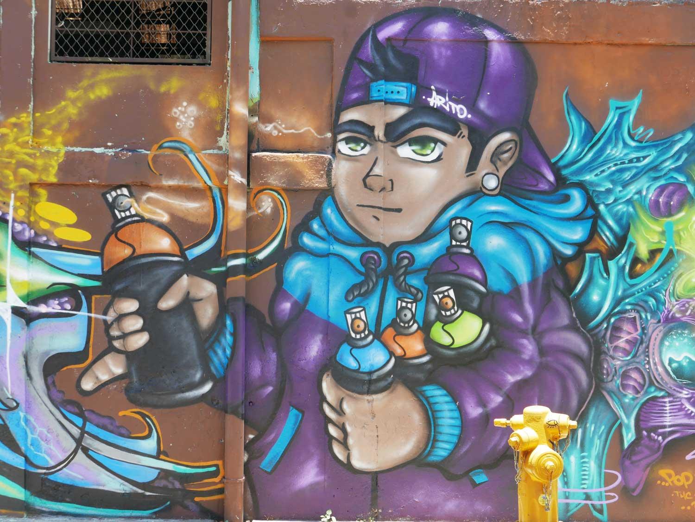 Tag Team. Street art in San Jose, Costa Rica