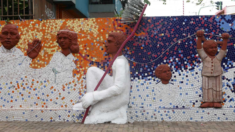 Tiled artwork in San Jose, Costa Rica