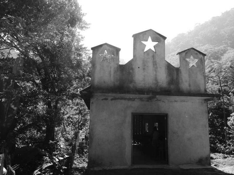 Church near the Agua Azul waterfalls in Mexico