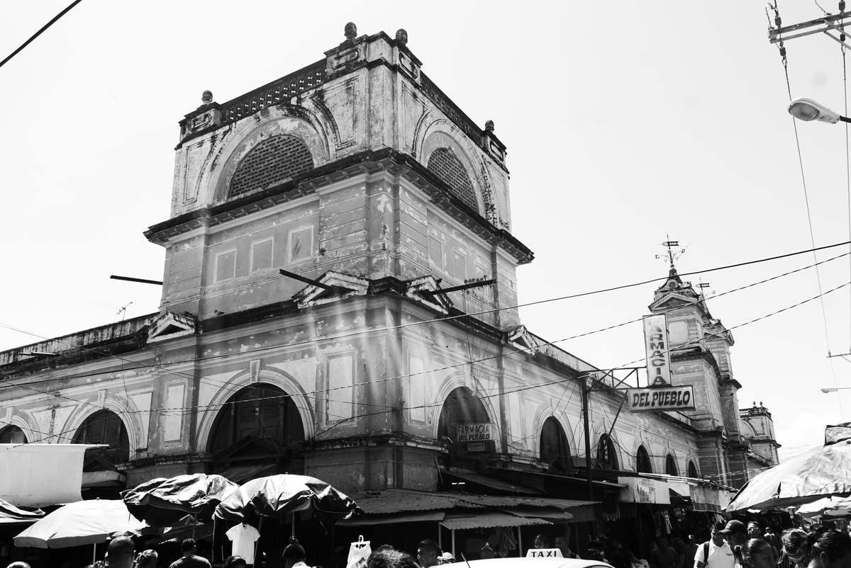 Facade of Mercado Municipal in Granada, Nicaragua