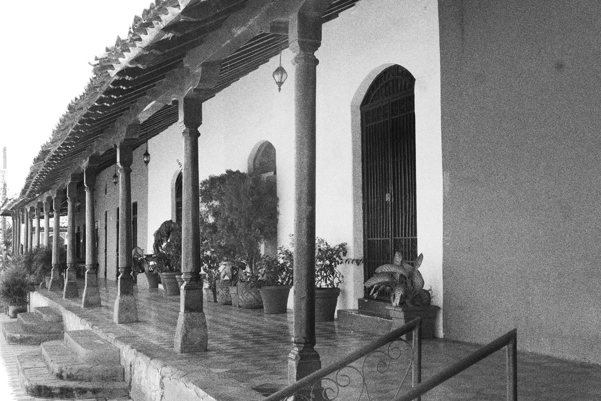 Veranda of a colonial building in Granada, Nicaragua