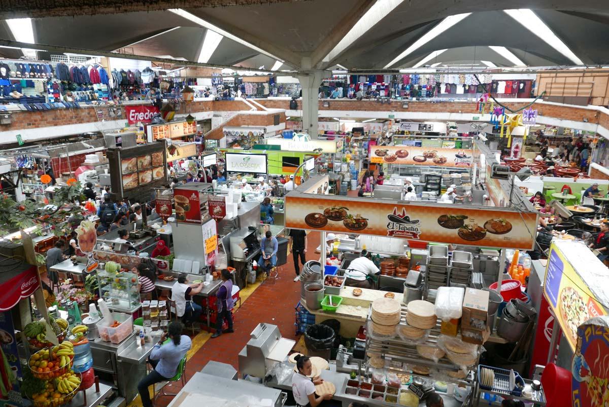 The gigantic San Juan de Dios II market in Guadalajara