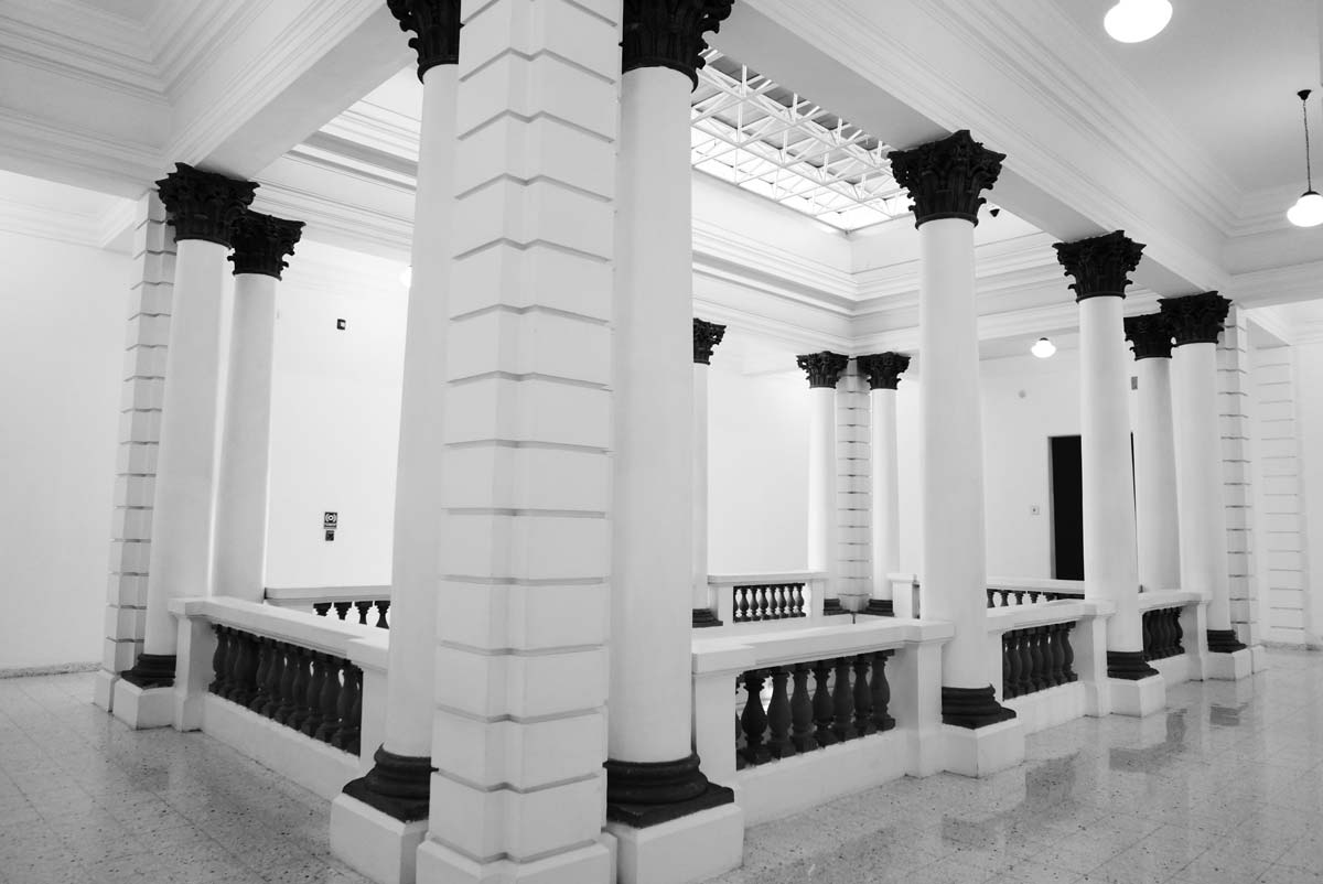 Atrium of the MUSA museum in Guadalajara