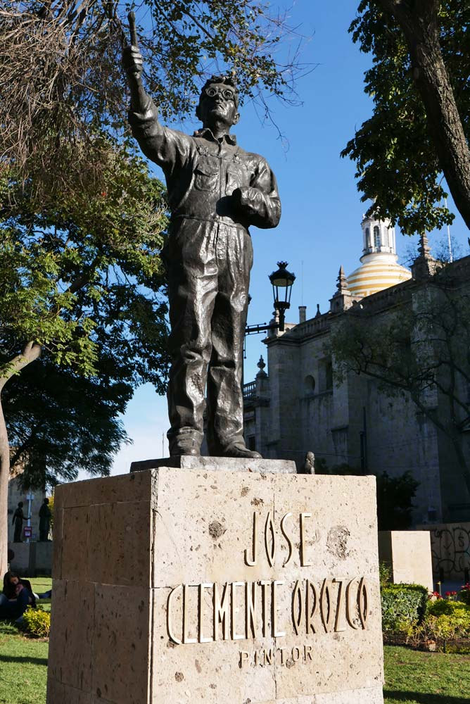 Statue for the painter Jose Clemente Orozco in Guadalajara