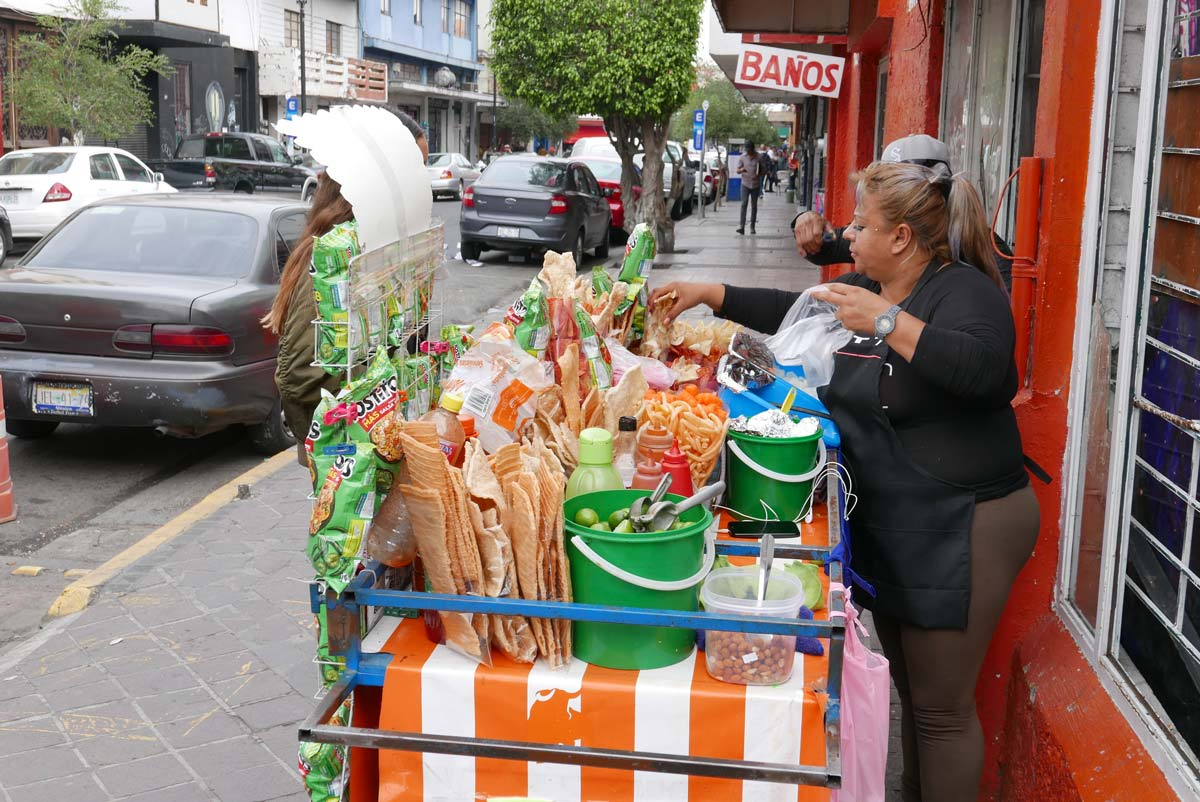 Street food cart in Guadalajara