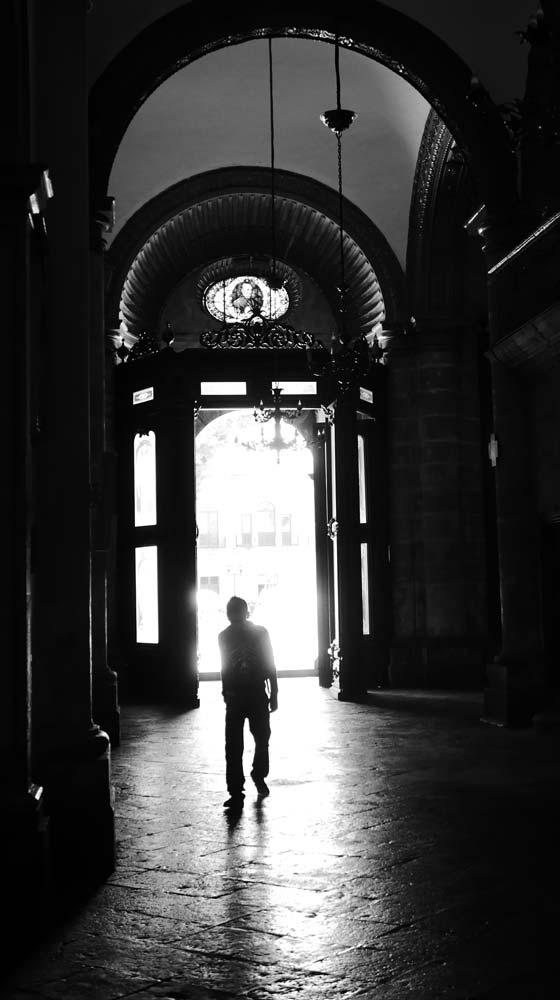 Shadow-dancing in the Templo Santo Domingo church in Oaxaca