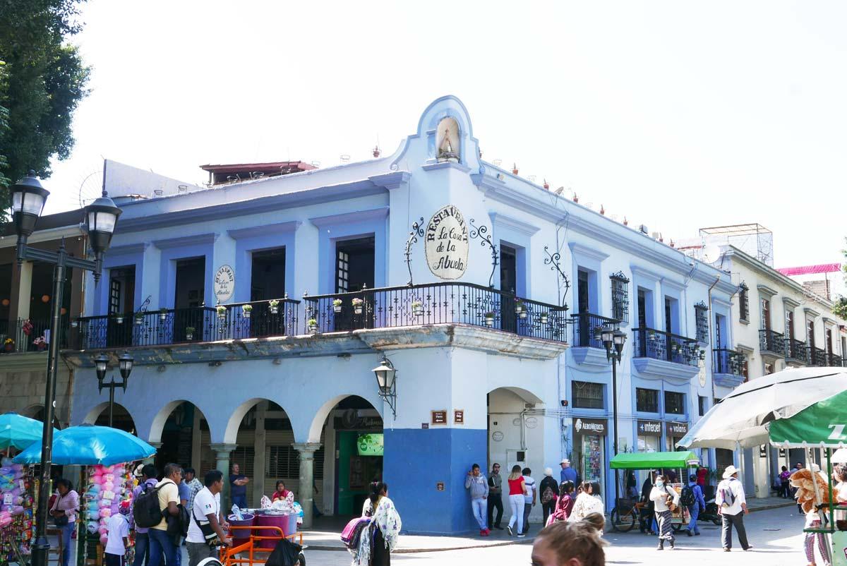 Hacienda at the zocalo central square in Oaxaca city