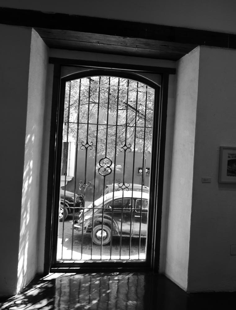 Inside the photography museum in Oaxaca