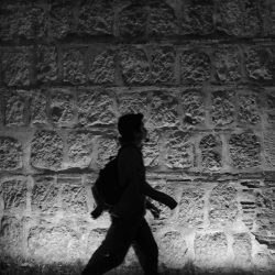 More shadow-dancing in the streets of Oaxaca by night