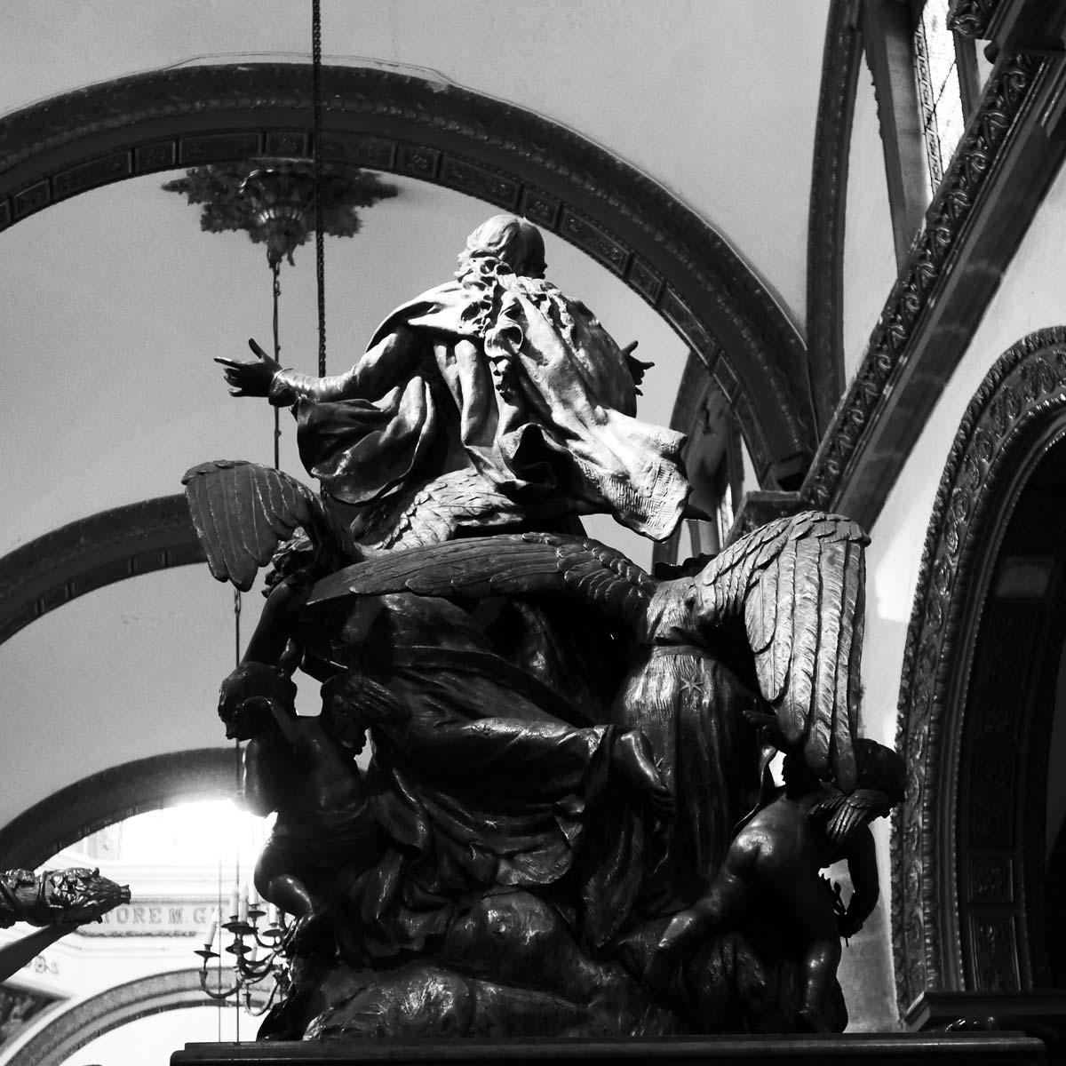 Statue inside a church in Oaxaca city