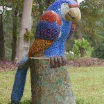 Parrot sculpture in Santo Domingo del Cerro near Antigua