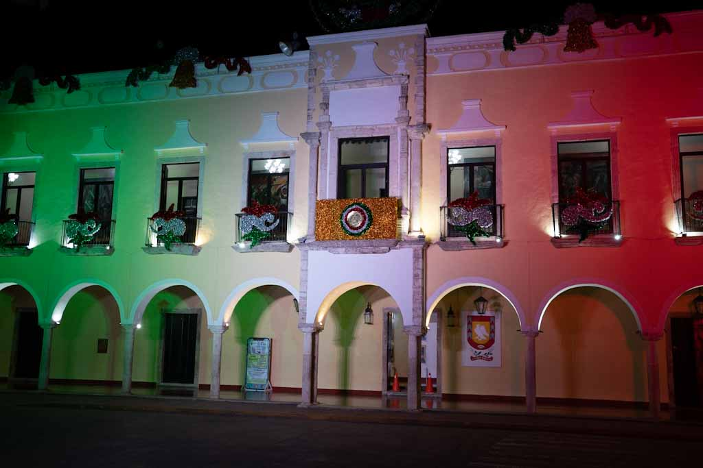 Alcaldia by night in Valladolid